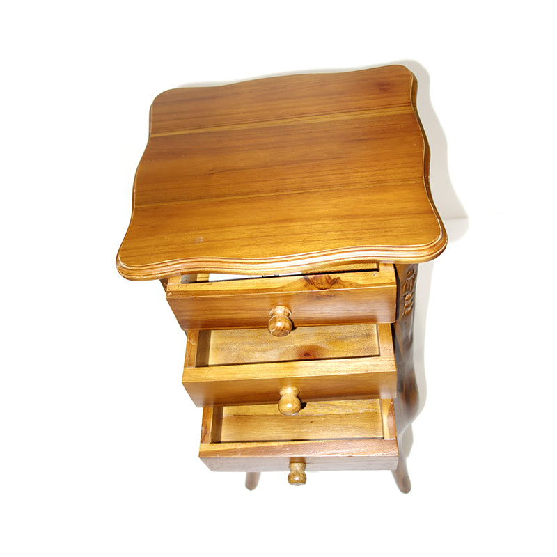 Square Teak Night Table