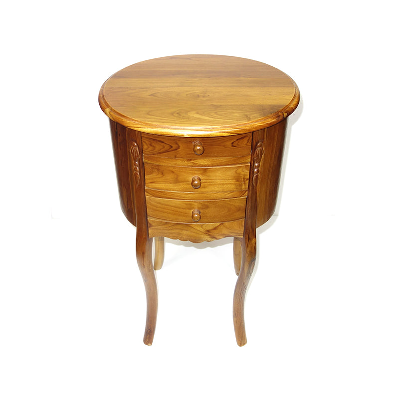 Oval Teak Night Table