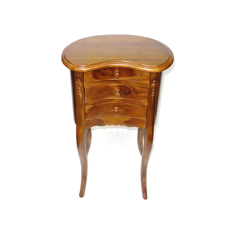 Kidney Teak Night Table