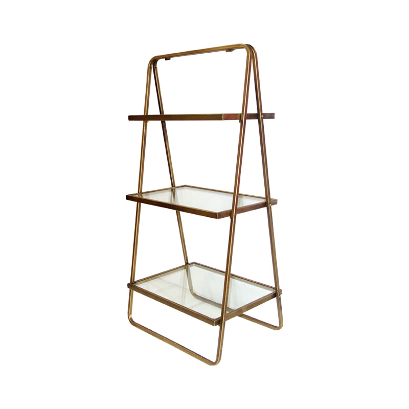 three tier glass ladder side table