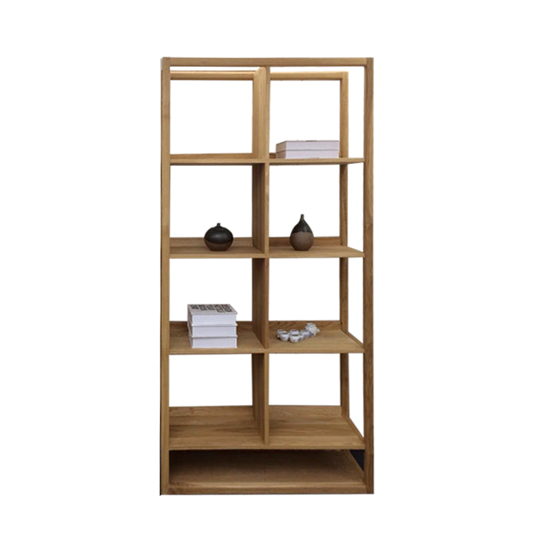solid oak open shelves 4 portitions