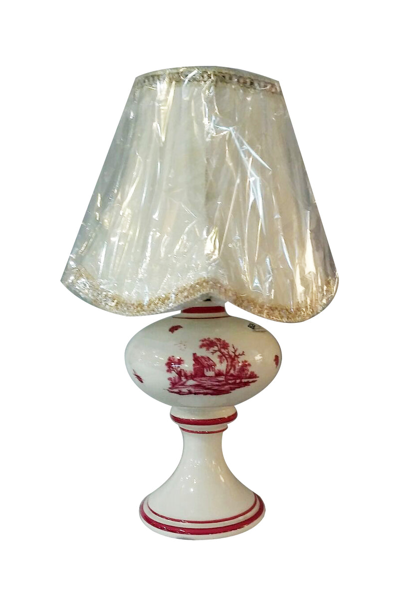 Depicting country side in France, this hand made ceramic lamp is perfect for small table top.