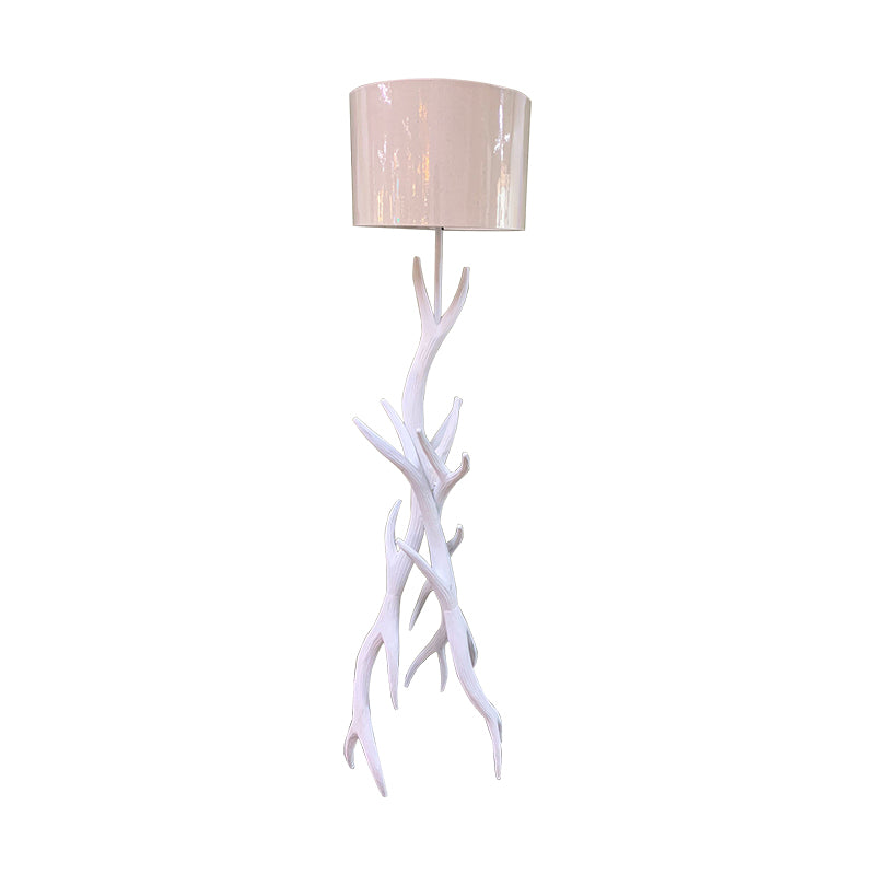 antler wooden floor lamp