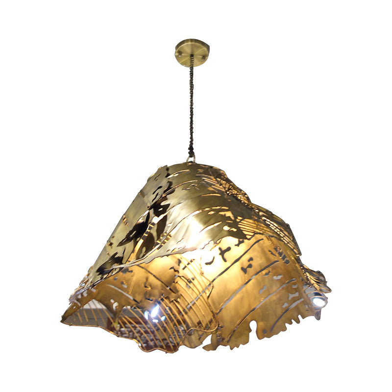 Deco steel rustic ceiling lamp (L)