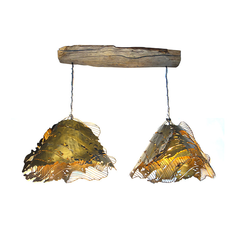 Deco steel rustic ceiling lamp (M)