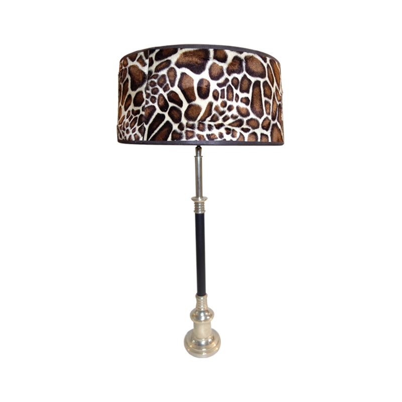 Africa Table Lamp in animal print lamp shade