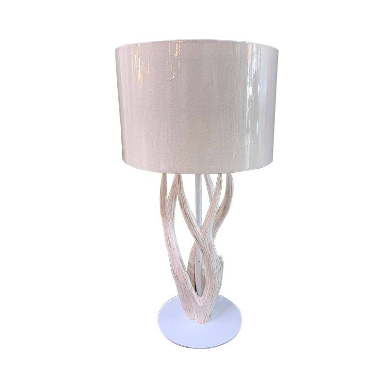 antler wooden table lamp
