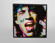 Legendary Pop and Rock star and Front-man of the greatest band -Mick Jagger, is now living in your wall!. This wall lamp is in cased in steel box of industrial industrial design