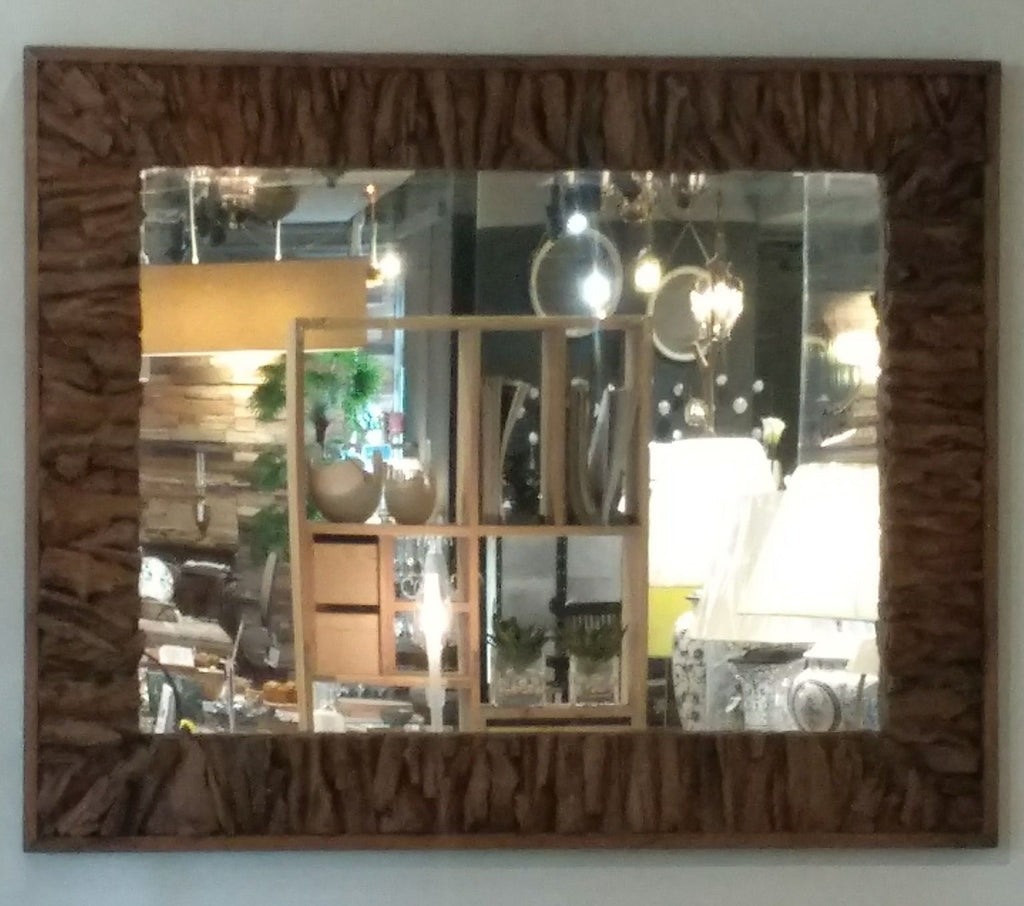 Rustic Teak Root Mirror made from Teak Root and with natural rustic