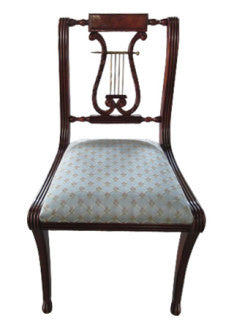 Drawing inspiration from Chippendale era, Lyre side chair's  fine craftsmanship and perfect proportion makes this chair a timeless piece. Among all chairs, this is our best seller.