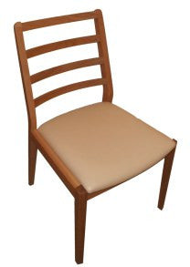 Petite oak dining chair leather seat Japanese brand