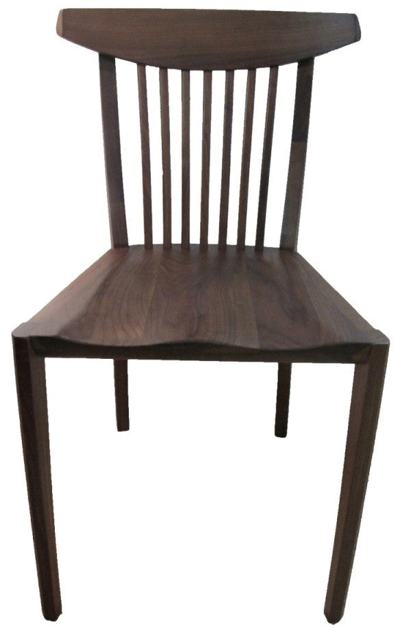 This chair takes inspiration from celebrated  Nakashima Master craftsman, beautifully made ribbed frame coupled with contoured seat , its both stylish and comfortable. in walnut or oak.