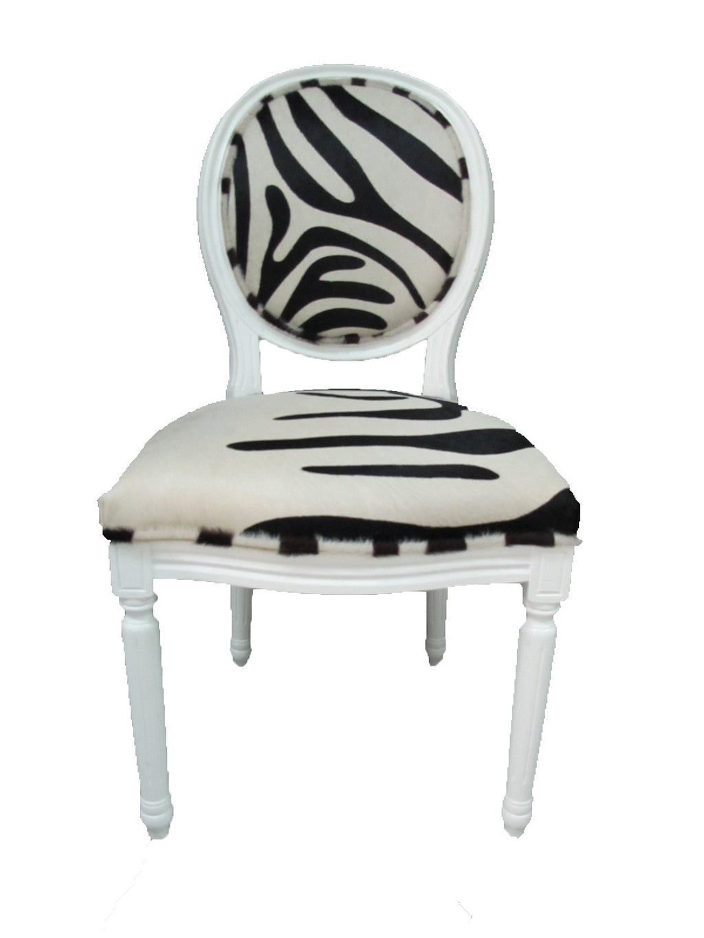 classical  Medallion chair zebra cowhide