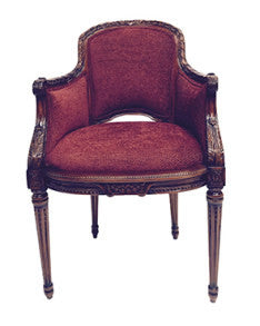 Italian fabric Jansen leisure armchair carving