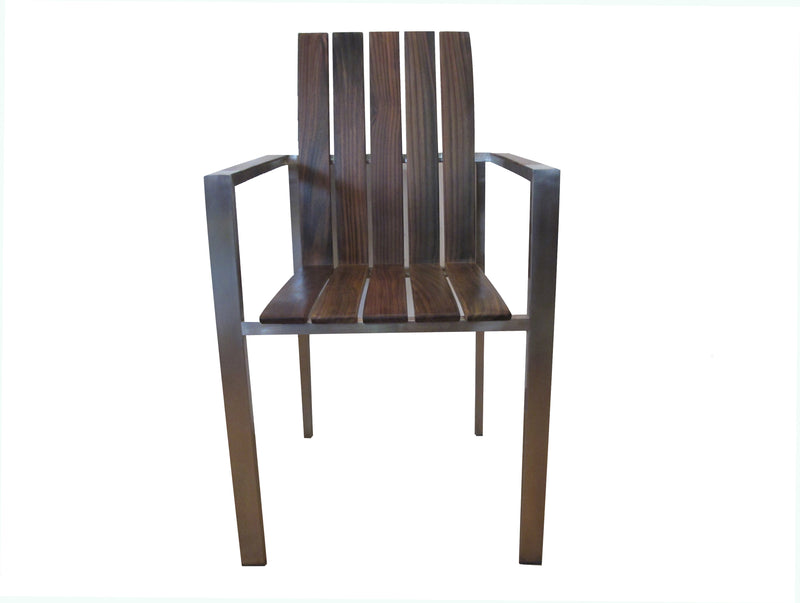 Solid rosewood in 304 stainless legs, Titanium chairs can be used outdoors and outdoors.