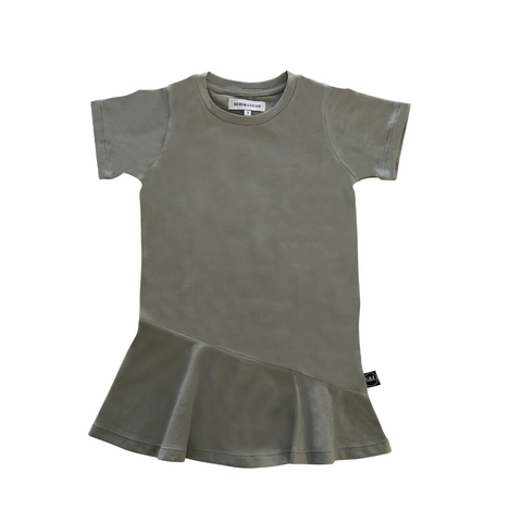 Short Sleeve Swing Dress - Slate - Sebi & Lucas
