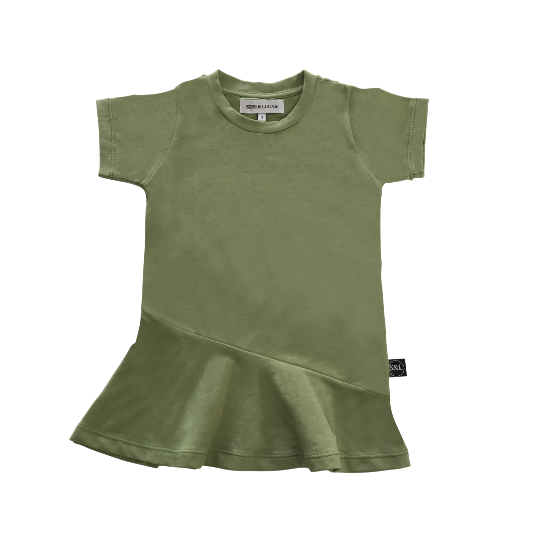 Short Sleeve Swing Dress - Green - Sebi & Lucas