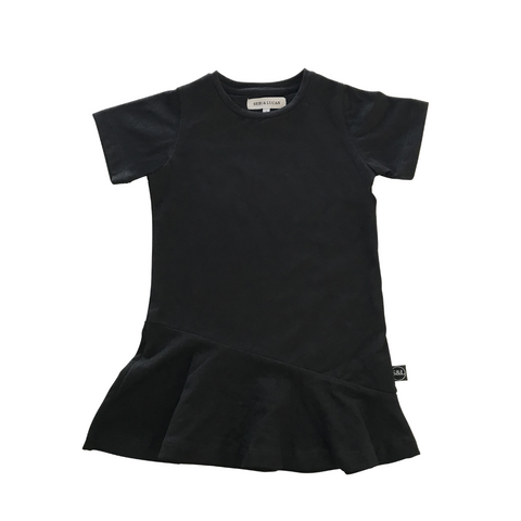 Short Sleeve Swing Dress - Black - Sebi & Lucas