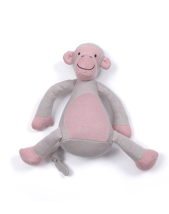 Monkey Jingle Toy - Pink - Sebi & Lucas