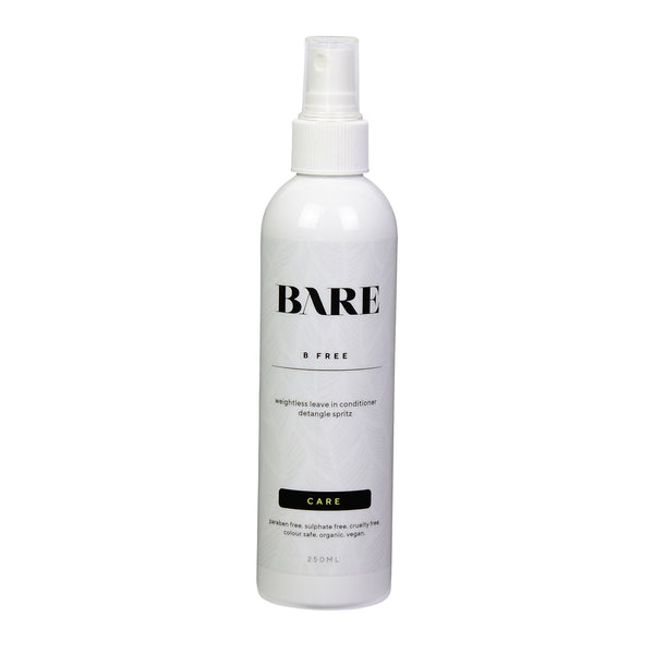 natural haircare products, bare movement, detangling spray, b free, haircare.