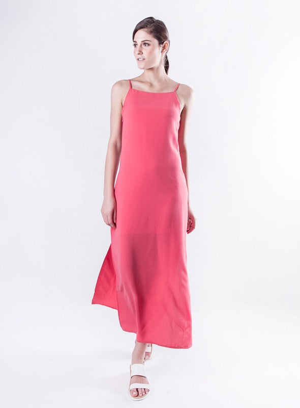 Avery Dress in Salmon