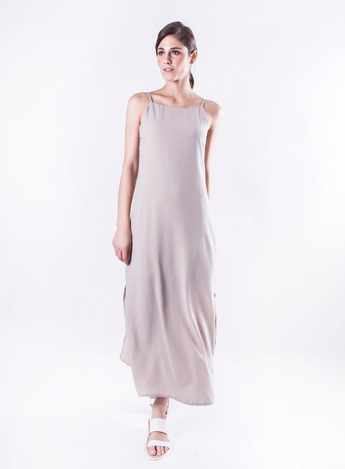 Avery Dress in Taupe