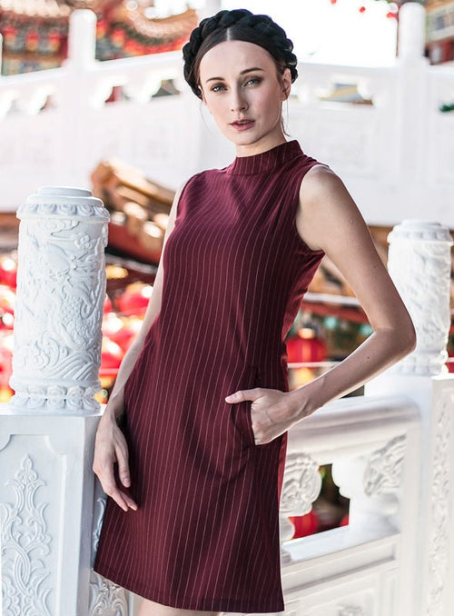 Ning Dress in Wine