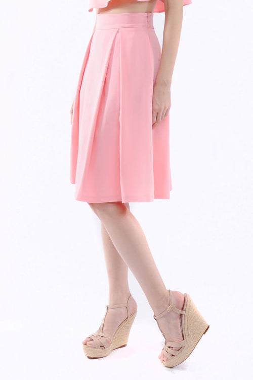 Kaitlynn Midi Skirt in Pink