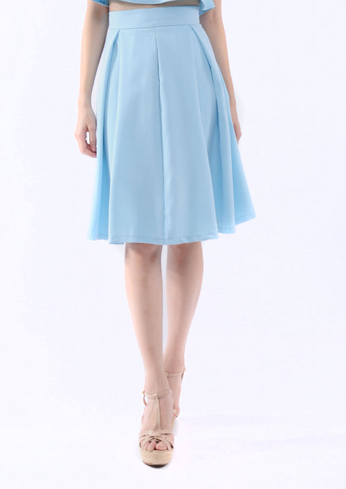 Kaitlynn Midi Skirt in Blue