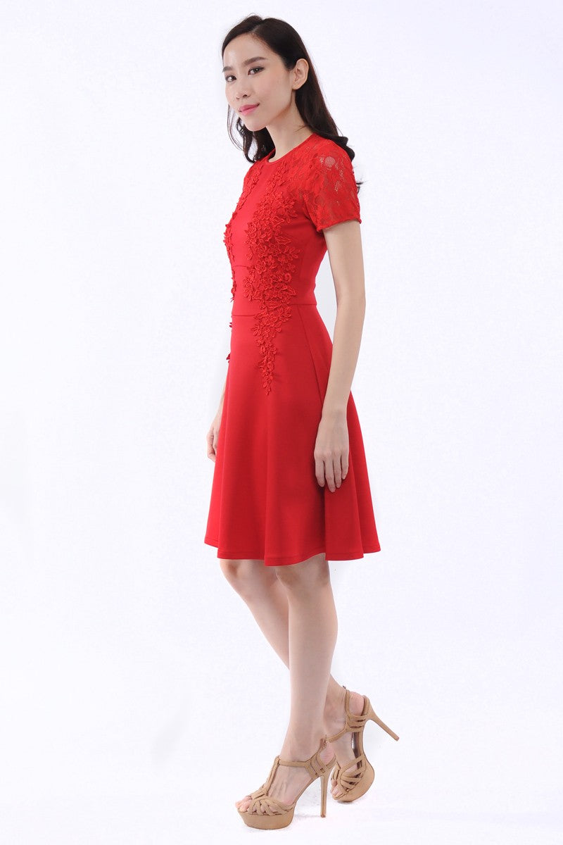 Hermione Dress in Red