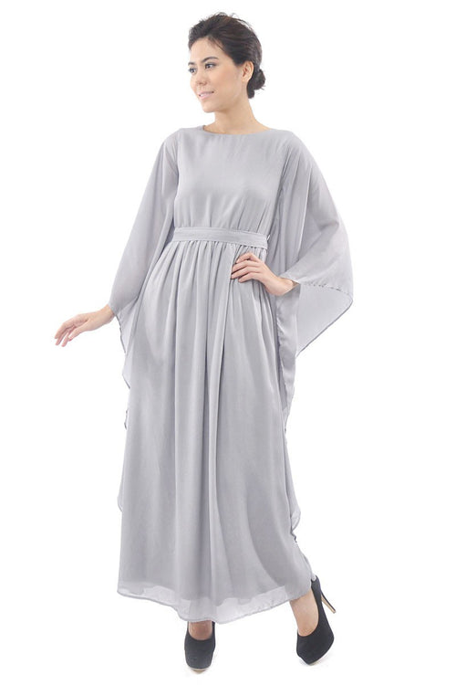 Axiera Kaftan Dress in Dove Grey (Slight Dirt)
