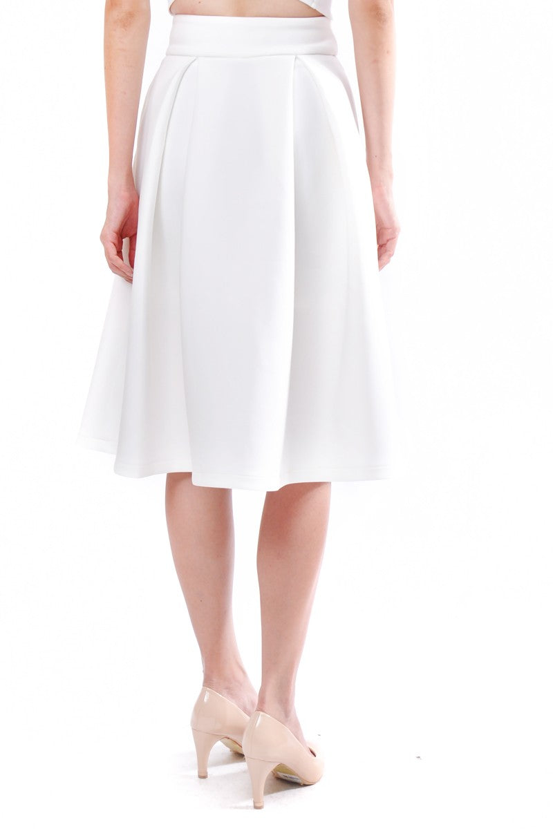 Kaitlynn Midi Skirt in White