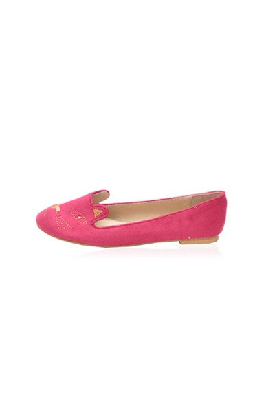 Kitty Flats in fuchsia