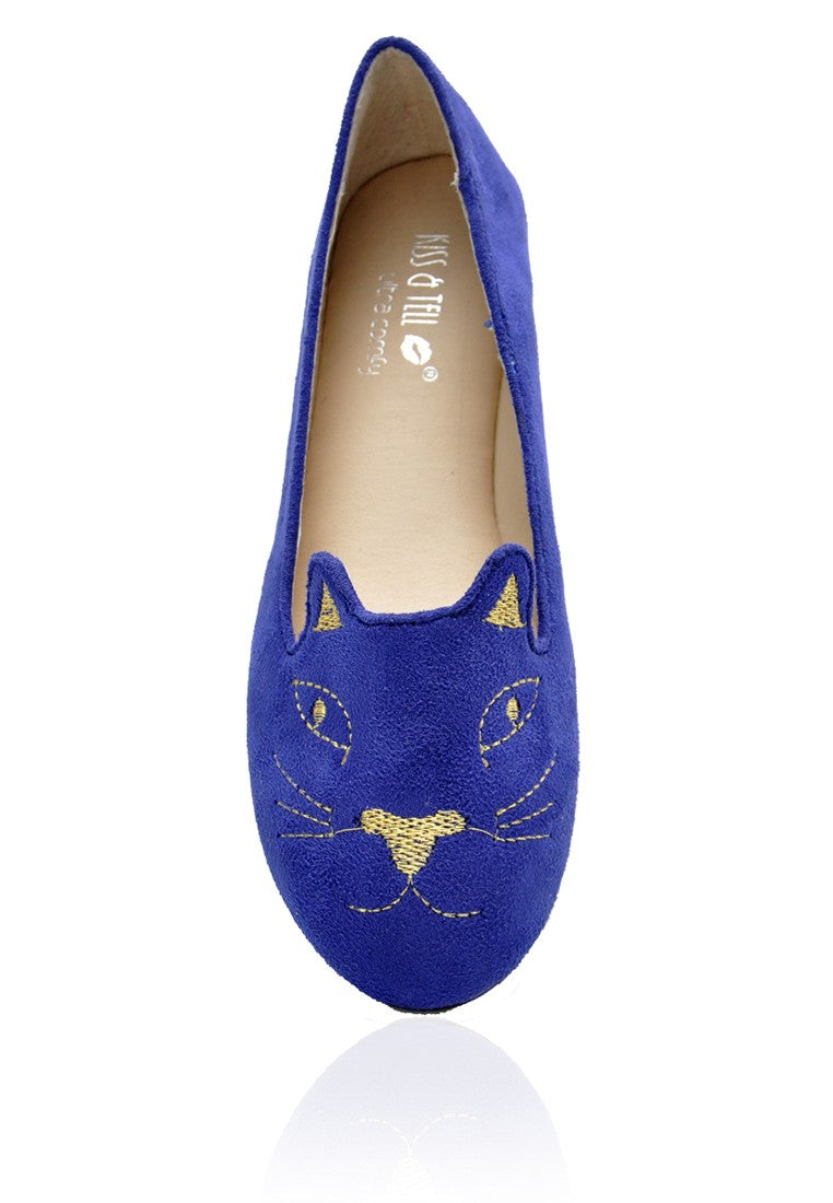 Kitty Flats in Electric Blue