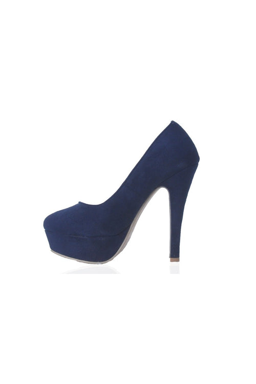 Edith Pumps in Navy
