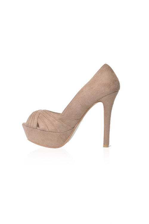 Lexie Heels in Taupe