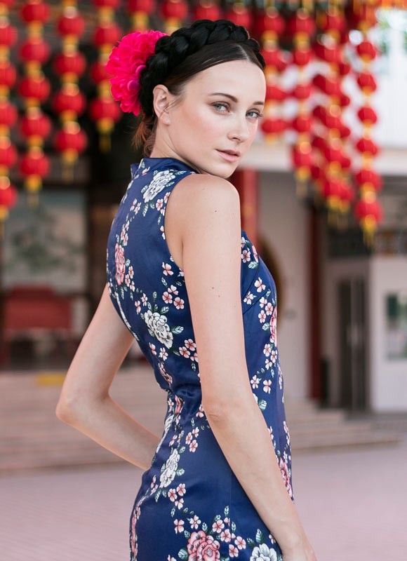 Jia Qi Pao in Navy