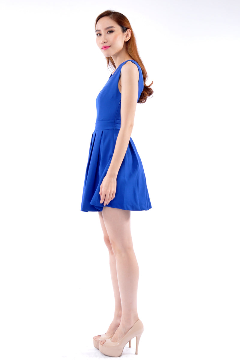 Kadison Dress in Electric Blue