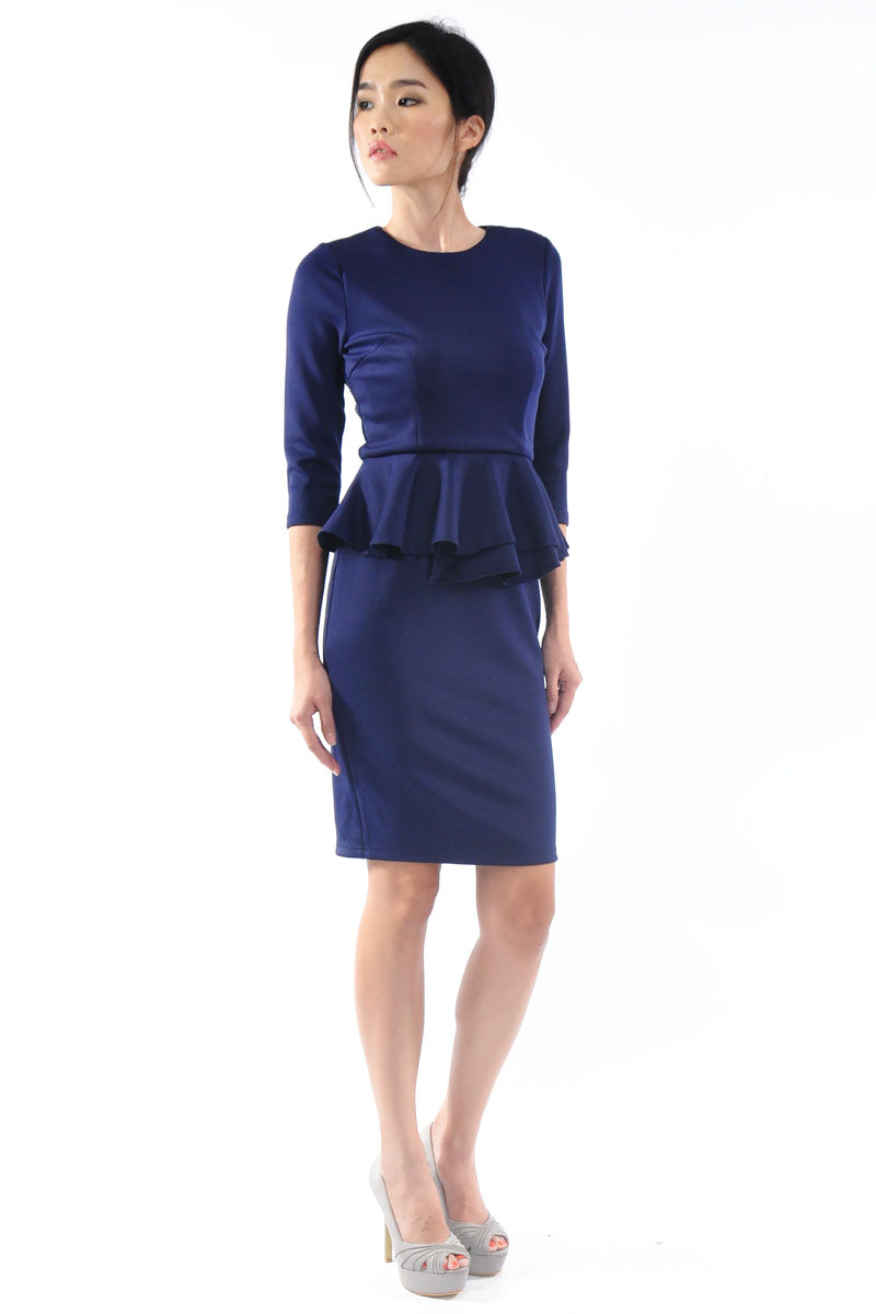 Hailey Dress in Navy