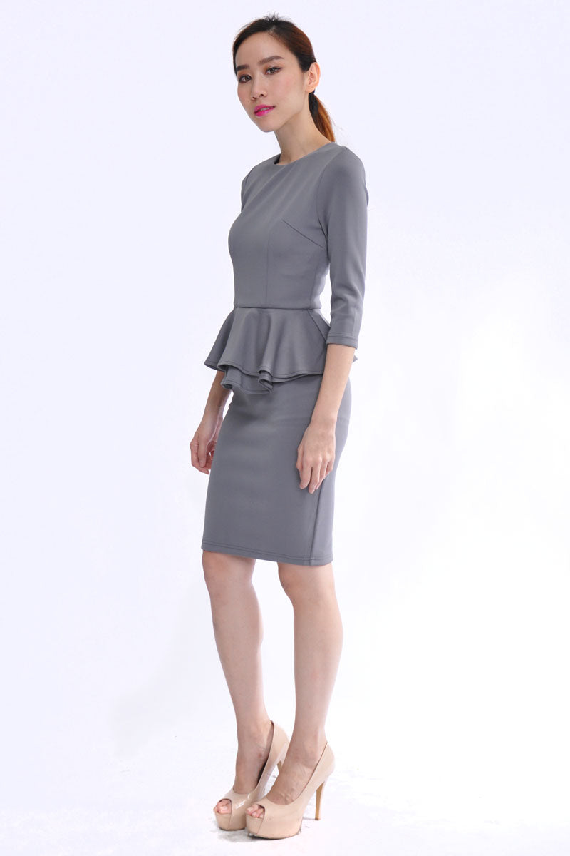 Hailey Dress in Grey