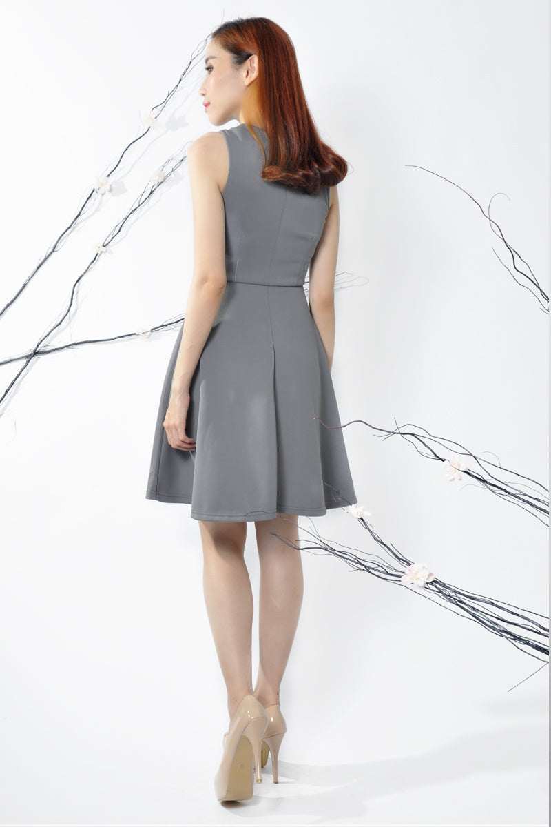 Skyler Dress in Grey