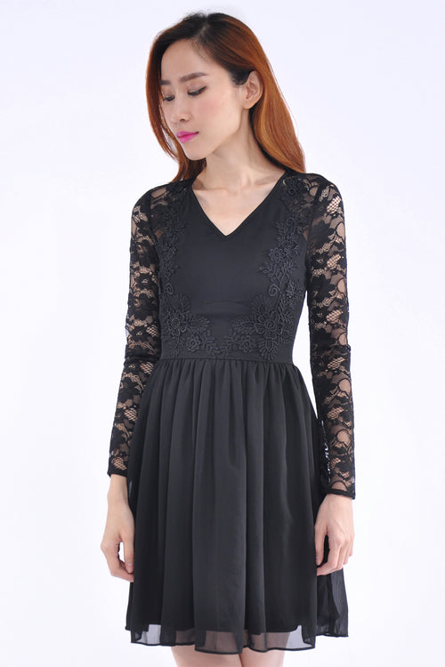 Isabelle Dress in Black