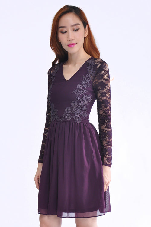 Isabelle Dress in Purple