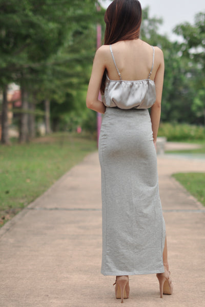 Satin Slip in Grey