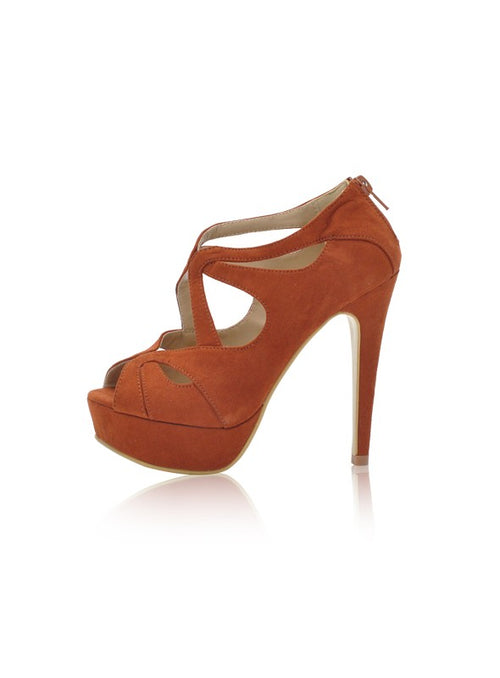Hayley heels in Tan