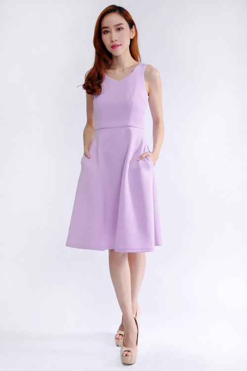 Violet Dress in Pastel Purple