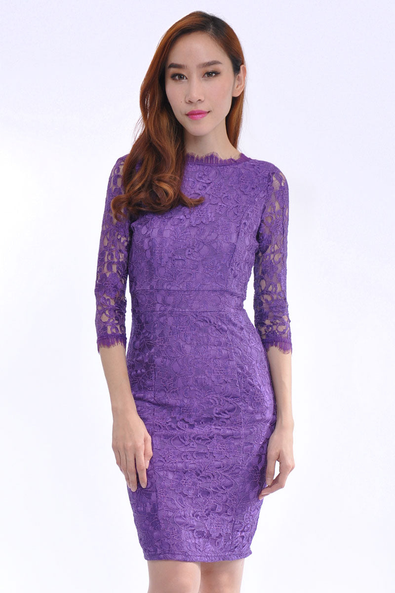 Lana Dress in Purple