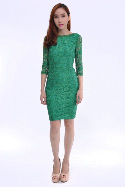 Lana Dress in Green
