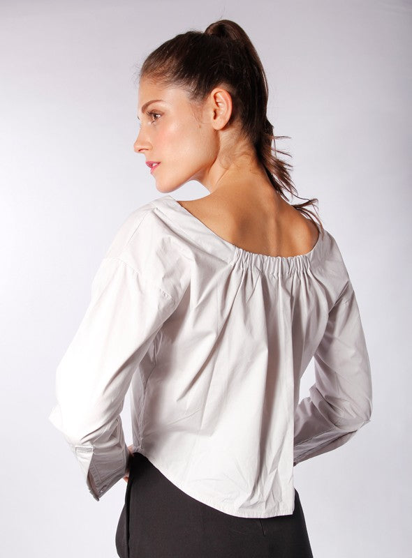 Daphne Blouse in Light Grey