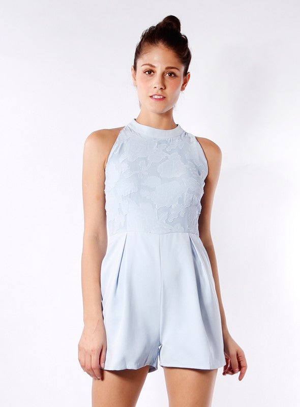 Ava Romper in Sky Blue
